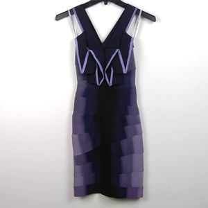 Hervé Leger | Purple Knit Rayon Dress $1800